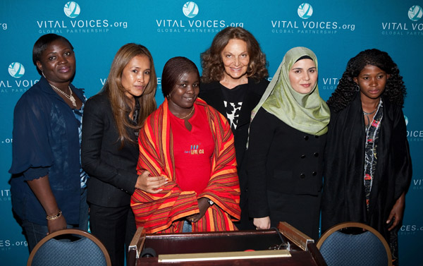 Diane von Furstenberg with Vital Voices. Photo via bellanaija.com.