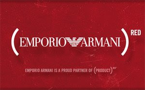 Armani's (Product)Red logo. Image via blogmugui.blogspot.com.